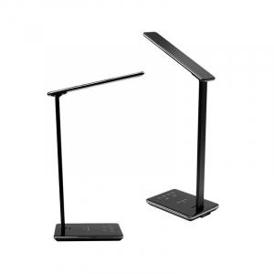 Lampa de birou cu incarcare wireless, Pliabila, Protectie ochi, Iesire USB, Viziune Led, Control prin atingere, Alb7