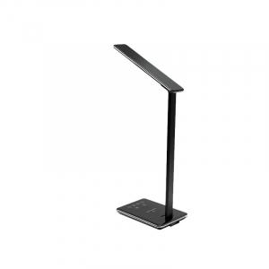 Lampa de birou cu incarcare wireless, Pliabila, Protectie ochi, Iesire USB, Viziune Led, Control prin atingere, Alb6
