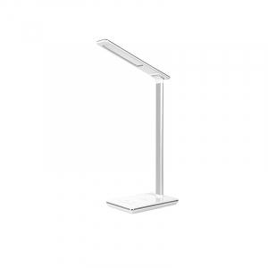 Lampa de birou cu incarcare wireless, Pliabila, Protectie ochi, Iesire USB, Viziune Led, Control prin atingere, Alb0