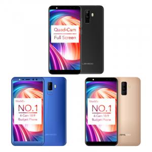 Telefon mobil Leagoo M9, 2GB RAM, 16GB ROM, Android 7.0, 5.5 inch 18:9 Full Screen, MT6580A QuadCore,Amprenta0