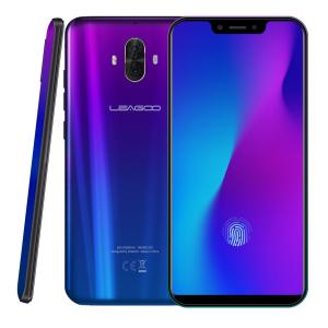 Telefon mobil Leagoo S10, 6GB RAM, 128GB ROM, Android 8.1, 6.21 inch 19:9 U-Notch, Helio P60,Amprenta, Dual SIM1