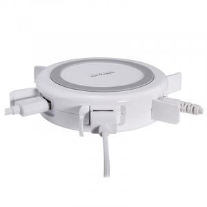 Incarcator wireless Nillkin Hermit Multifunctional QI, USB 3.0,4 porturi USB2