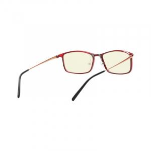 Ochelari de protectie Xiaomi Mi Computer Glasses, UV400, Blocare lumina albastra 40%, Lentile galbene, Usori si confortabili, Rosu1