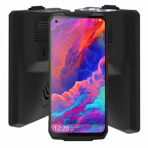 "Pachet telefon mobil Oukitel WP7 cu modul UVC si lanterna, 4G, IPS 6.53"", 8GB RAM, 128GB ROM, Helio P90, NFC, IP68, 8000mAh, Dual SIM, Negru1"