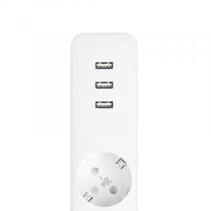 Prelungitor Xiaomi Mi Power Strip, 3 prize, 3 port-uri USB, 16A, 3680W, 1.4m cablu4