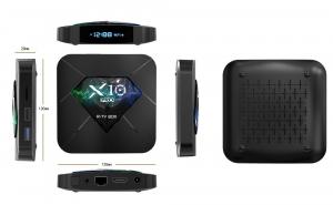 R-TV BOX X10 PRO Smart Media Player, 3D, 4K HDR, RAM 4GB, ROM 64GB, Android 8.1, Quad Core0