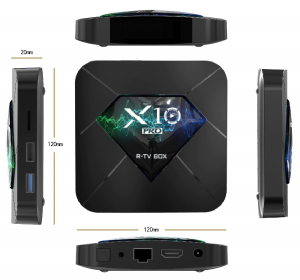 R-TV BOX X10 PRO Smart Media Player, 3D, 4K, HDR10, RAM 4GB DDR3, ROM 64GB, Amlogic S905X2, Android 9.0, Quad Core5