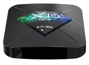 R-TV BOX X10 PRO Smart Media Player, 3D, 4K, HDR10, RAM 4GB DDR3, ROM 64GB, Amlogic S905X2, Android 9.0, Quad Core0