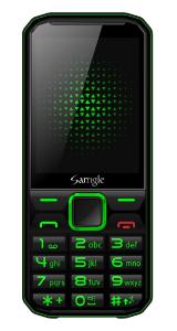 "Telefon mobil Samgle F9 Hulk, 3G, 1450 mAh, 64MB RAM, 128MB ROM, 2.8"", Lanterna, Radio, Dual SIM, Compatibil Digi Mobil, Verde, Resigilat0"