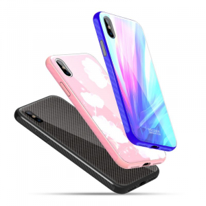 Set Cadou Extravagant - Nillkin Fancy Gift Set - Cablu de date 3 in 1, Incarcator wireless, Husa tempered glass pentru iPhone X7