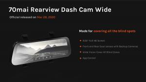 Oglinda retrovizoare smart Xiaomi 70MAI 2020 Rearview Dash Cam Wide D075