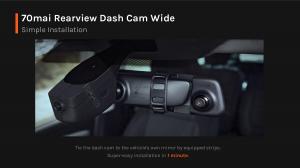 Oglinda retrovizoare smart Xiaomi 70MAI 2020 Rearview Dash Cam Wide D077