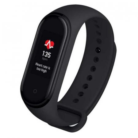 Smartband Xiaomi Mi Band 4, Folie cadou, LCD Touch Screen, Waterproof,Ritm Cardiac, Fitness Tracker, Bluetooth 5.0, 135 mAh5