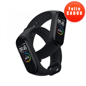 Smartband Xiaomi Mi Band 4, Folie cadou, LCD Touch Screen, Waterproof, Ritm Cardiac, Fitness Tracker, Bluetooth 5.0, 135 mAh0