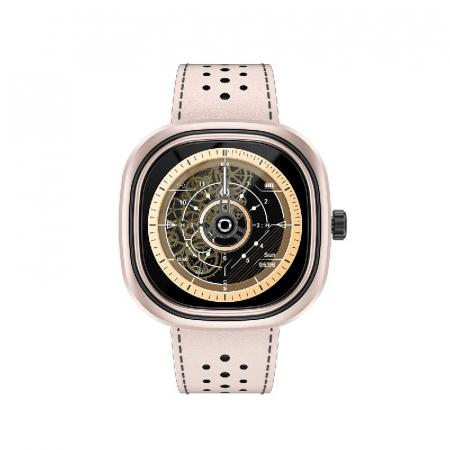 Smartwatch Doogee DG Ares Gold cu bratara din piele [0]