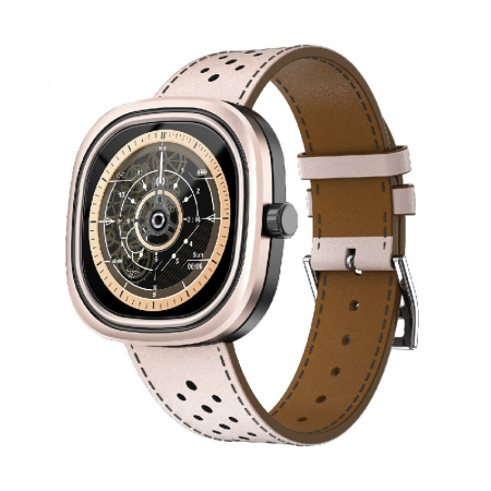 Smartwatch Doogee DG Ares Gold cu bratara din piele [1]