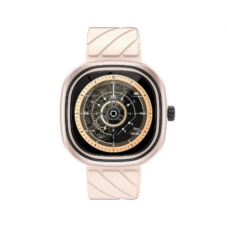 Smartwatch Doogee DG Ares Gold cu bratara din silicon [0]