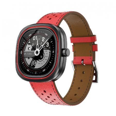 Smartwatch Doogee DG Ares Rosu cu bratara din piele [1]