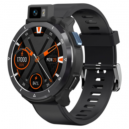 Smartwatch Kospet Optimus 2 Negru + bratara de rezerva din piele maro [1]