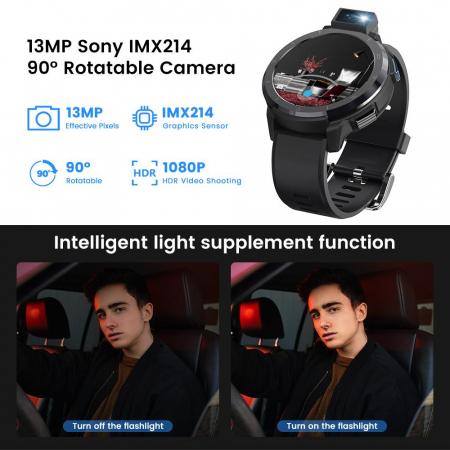 Smartwatch Kospet Optimus 2 Negru + bratara de rezerva din piele maro [5]