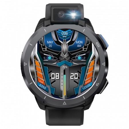 Smartwatch Kospet Optimus 2 Negru + bratara de rezerva din piele maro [2]