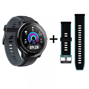 "Smartwatch Kospet Probe, LCD 1.3"",Nordic NRF 52832, Bluetooth v4.2, IP68, Suporta inot,  250mAh, Fibra de carbon, Negru/Verde0"