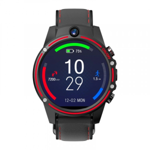"Smartwatch Kospet Vision, 4G, IPS 1.6"", 3GB RAM, 32GB ROM, Android 7.1.1,MTK6739 QuadCore, Wi-Fi, GPS, 800mAh, Negru cu Rosu3"