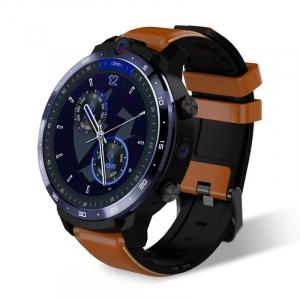 "Smartwatch Lemfo LEM12 Pro, 4G, IPS 1.6"", 4GB RAM, 64GB ROM, Android 10,MT6762 OctaCore, GPS, Proiectie wireless, 900mAh, Maro0"