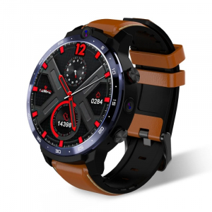 "Smartwatch Lemfo LEM12 Pro, 4G, IPS 1.6"", 4GB RAM, 64GB ROM, Android 10,MT6762 OctaCore, GPS, Proiectie wireless, 900mAh, Maro1"