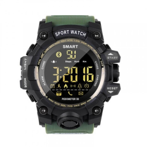 Smartwatch STAR EX16S, LCD FSTN iluminat, Waterproof IP67, Bluetooth v4.0, Baterie CR2032, Verde militar1