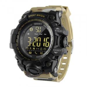 Smartwatch STAR EX16S, LCD FSTN iluminat, Waterproof IP67, Bluetooth v4.0, Baterie CR2032, Kaki camuflaj0