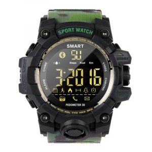 Smartwatch STAR EX16S, LCD FSTN iluminat, Waterproof IP67, Bluetooth v4.0, Baterie CR2032, Verde camuflaj1
