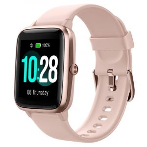 "Smartwatch Ulefone Watch Roz Coral, TFT 1.3"" touch screen, Ritm cardiac, Monitorizare Menstruatie, Waterproof, Bluetooth v5.0, 210mAh0"
