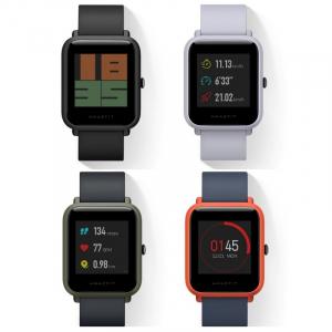 Smartwatch Xiaomi Amazfit Bip + folie cadou , GPS, Bluetooth, Waterproof IP68, ecran curbat 1.28 inch, ritm cardiac0