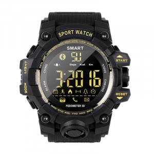 Smartwatch STAR EX16S, LCD FSTN iluminat, Waterproof IP67, Bluetooth v4.0, Baterie CR2032, Negru1