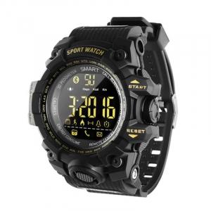 Smartwatch STAR EX16S, LCD FSTN iluminat, Waterproof IP67, Bluetooth v4.0, Baterie CR2032, Negru0