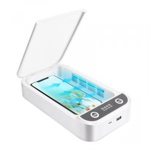 Sterilizator UV cu ozon multi-functional portabil STAR cu aromatherapy reincarcabil cu incarcator wireless si notificare vocala, Alb2