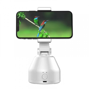 Suport cu sistem de stabilizare Gimbal Souing Genie 360° Intelligent Tracking Platform cu AI Smart Tracking si Face Recognition Alb2