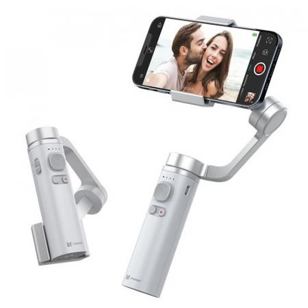 Stabilizator gimbal pliabil pe 3 axeFunSnap Capture π pentru smartphone, Giroscop, Bluetooth, Carcasa metalica, 4500mAh3