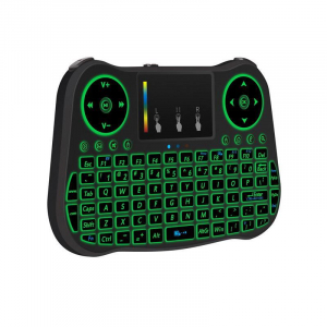 Telecomanda cu mini tastatura Rainbow backlit MT08, Air Mouse, Touch Pad, Wireless, Iluminare led, QWERTY3