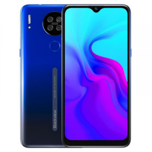 "Telefon mobil Blackview A80 2020, 4G, IPS 6.21"", 2GB RAM, 16GB ROM, Android 10 GO, MT6737V/W, Quad Camera, 4200mAh, Dual SIM, Albastru0"