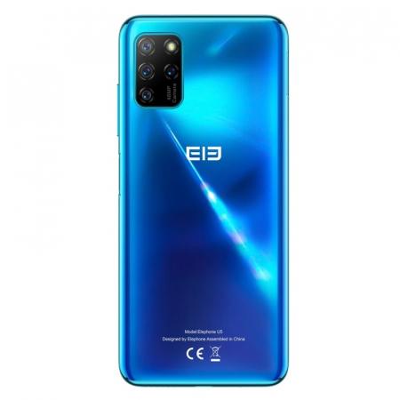 "Telefon mobil Elephone U5 Albastru, 4G, 6.4"" FHD+ perforat, 4GB RAM, 128GB ROM, Android 10, Helio P60 OctaCore, NFC, 4000mAh, Dual SIM2"