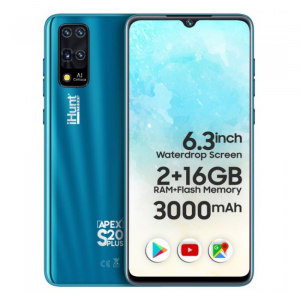 """Telefon mobil iHunt S20 Plus ApeX 2021, 3G, IPS 6.3"""", 2GB RAM, 16GB ROM, Android 9,Spreadtrum SC7731E, 3000mAh, Dual SIM, Albastru0"""