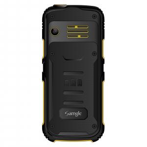 """Telefon mobil Samgle Armor, 3G, QVGA 2.0"""" color, Camera 2.0MP, Bluetooth, FM, Lanterna, 3000mAh, Dual SIM, Stand incarcare cadou, Galben2"""