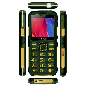 """Telefon mobil Samgle Armor, 3G, QVGA 2.0"""" color, Camera 2.0MP, Bluetooth, FM, Lanterna, 3000mAh, Dual SIM, Stand incarcare cadou, Verde3"""