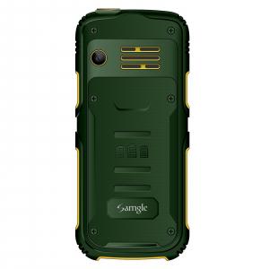 """Telefon mobil Samgle Armor, 3G, QVGA 2.0"""" color, Camera 2.0MP, Bluetooth, FM, Lanterna, 3000mAh, Dual SIM, Stand incarcare cadou, Verde2"""
