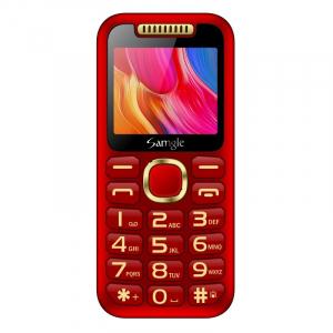 """Telefon mobil Samgle Halo, 3G, TFT 2.0"""" color, Camera 2.0MP, Bluetooth, FM, Lanterna, 3000mAh, Dual SIM, Stand incarcare cadou, Rosu1"""