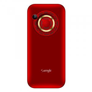 """Telefon mobil Samgle Halo, 3G, TFT 2.0"""" color, Camera 2.0MP, Bluetooth, FM, Lanterna, 3000mAh, Dual SIM, Stand incarcare cadou, Rosu2"""