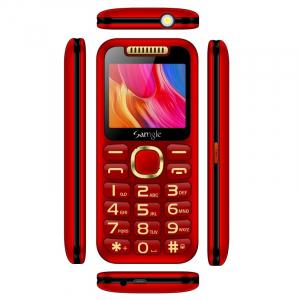 """Telefon mobil Samgle Halo, 3G, TFT 2.0"""" color, Camera 2.0MP, Bluetooth, FM, Lanterna, 3000mAh, Dual SIM, Stand incarcare cadou, Rosu3"""