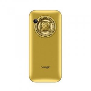 """Telefon mobil Samgle Halo, 3G, TFT 2.0"""" color, Camera 2.0MP, Bluetooth, FM, Lanterna, 3000mAh, Dual SIM, Stand incarcare cadou, Gold2"""